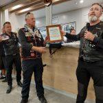 Stae president Butch presenting Charter certificate tp PEEL President Ewok